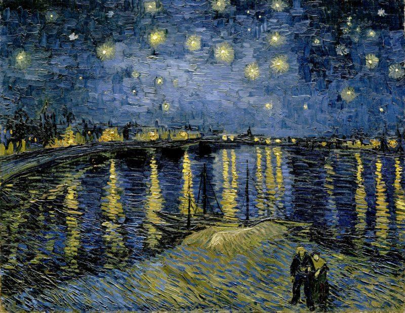 ゴッホのローヌ川の星月夜