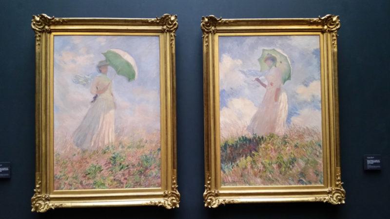オルセー美術館 モネ 日傘の女