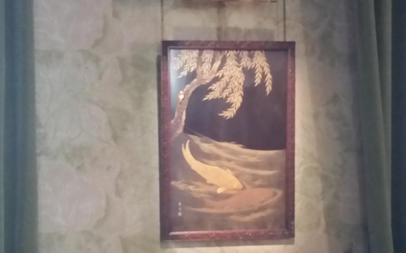 金色の魚 Poisson d'or の漆絵