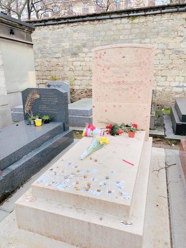 モンパルナス墓地 サルトル・ボーヴォワールの墓