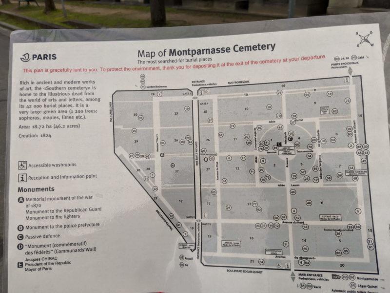 モンパルナス墓地 マップ