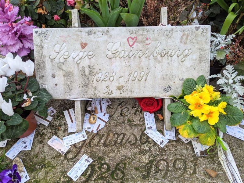 モンパルナス墓地 セルジュ・ゲンズブールの墓