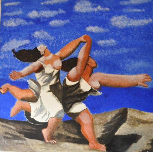 浜辺を駆ける二人の女
