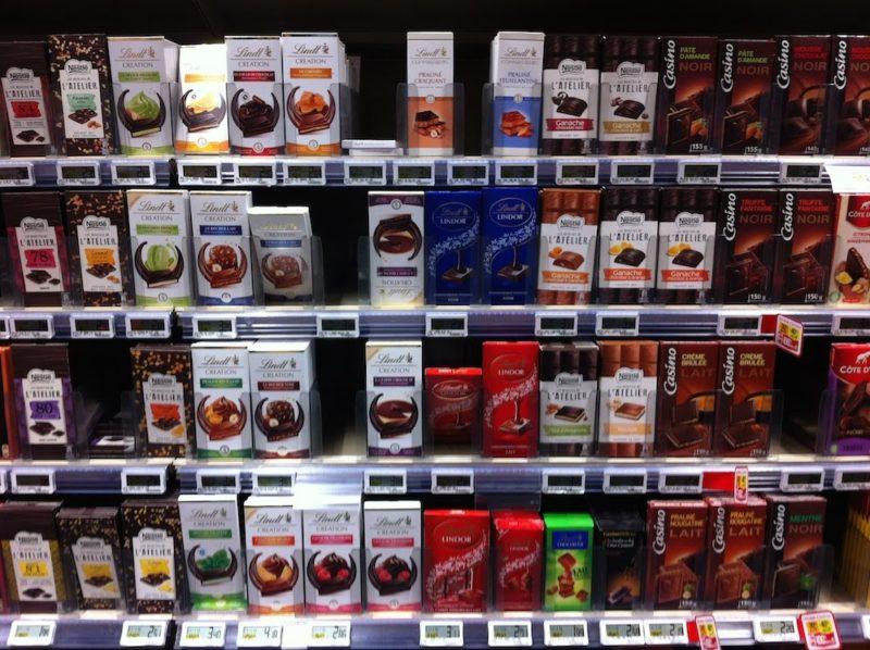 パリのスーパーマーケット チョコレート