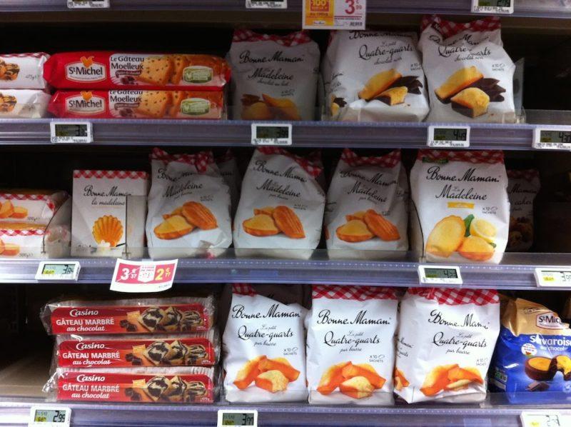 パリのスーパーマーケット ボンヌママンのお菓子