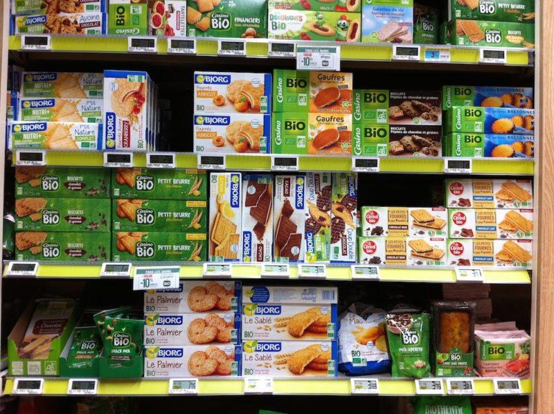 パリのスーパーマーケット お菓子