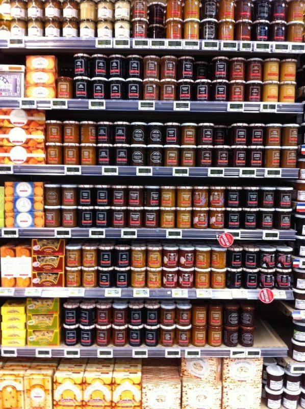パリのスーパーマーケット ジャム