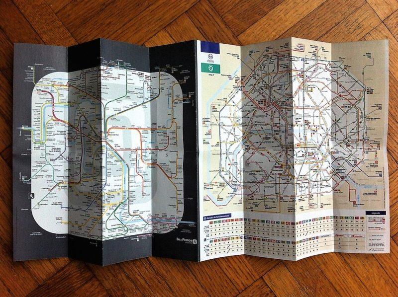 パリの路線バスの路線図
