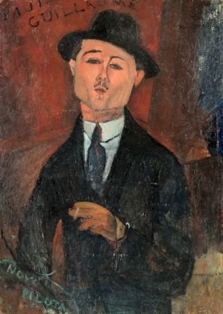 モディリアーニ《ポール・ギョームの肖像 Paul Guillaume, Novo Pilota》