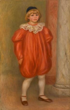 ルノワール《道化の衣装のクロード Claude Renoir en clown》