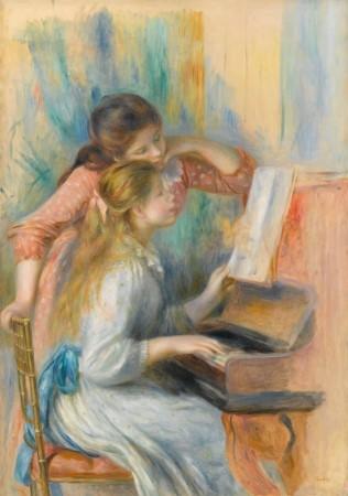 ルノワール《ピアノに寄る娘たち Jeunes filles au piano》