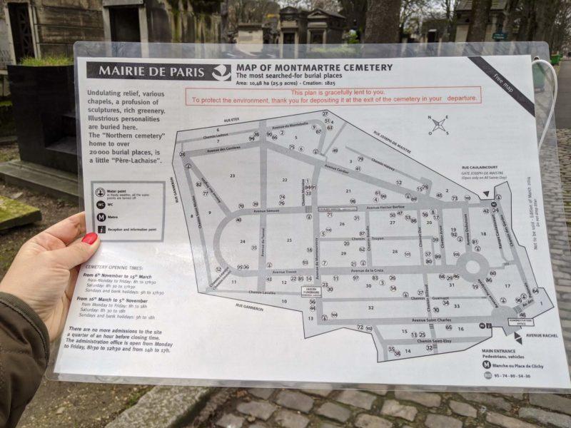 モンマルトル墓地 マップ