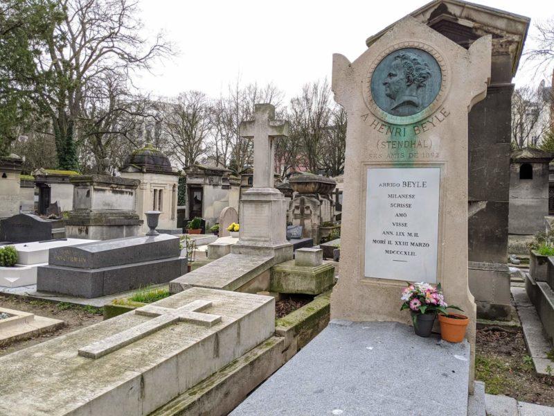 モンマルトル墓地 スタンダールの墓