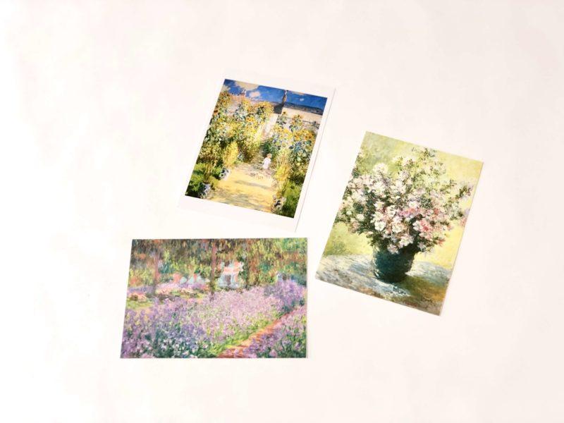 ジヴェルニーモネの家で購入したお土産のポストカード(絵葉書)