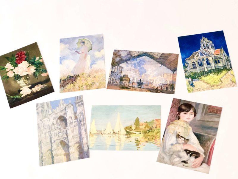 オルセー美術館のお土産のポストカード(絵葉書)