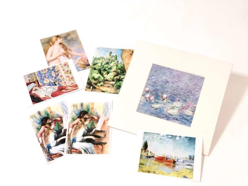 オランジュリー美術館のお土産の絵葉書(ポストカード)と絵