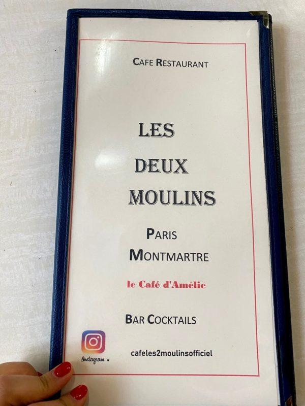 カフェ・デ・ドゥ・ムーランのメニュー