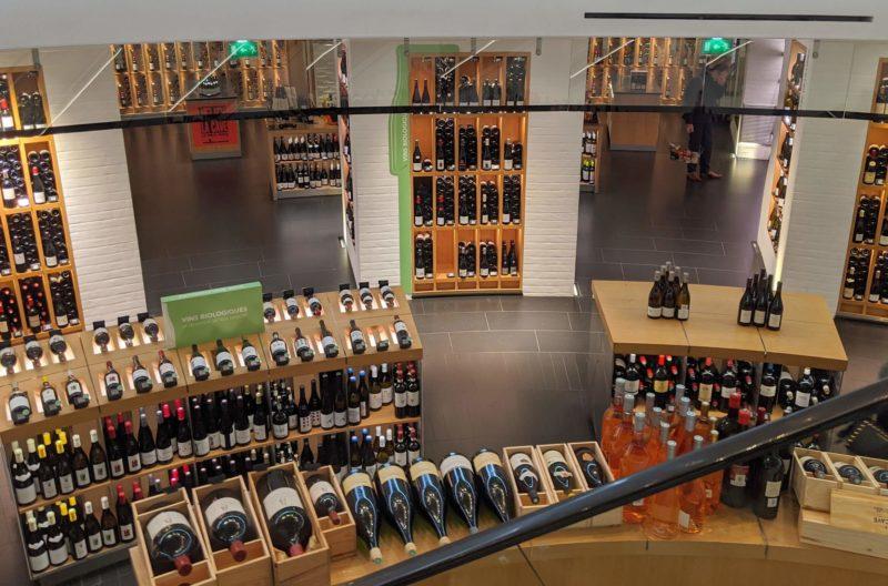 La Grande Épicerie de Paris 地下ワインコーナー