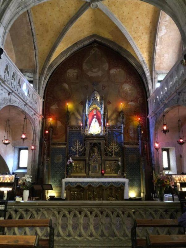 ロカマドゥール、ノートルダム礼拝堂の黒い聖母子像(黒いマリア像)