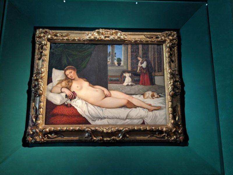 ウフィツィ美術館ティツィアーノ『ウルビーノのヴィーナス』