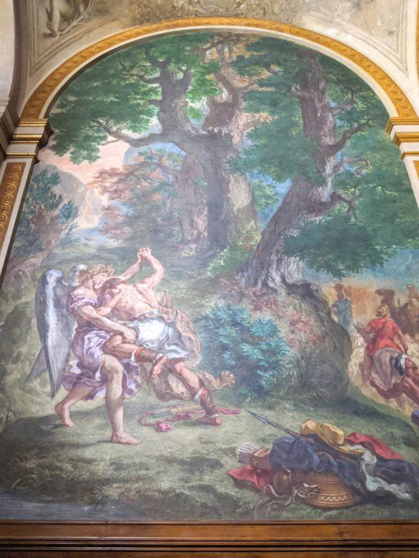 ドラクロワ 天使とヤコブの闘い