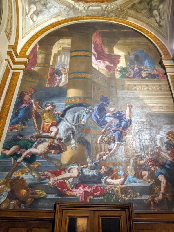 ドラクロワ 神殿を追われるヘリオドロス