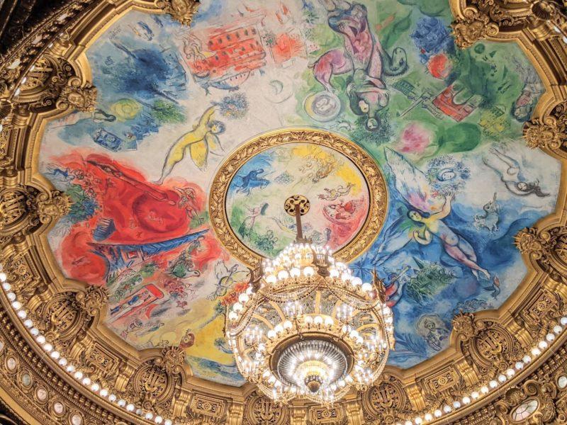 パリのオペラ座ガルニエのシャガール天井画《夢の花束》
