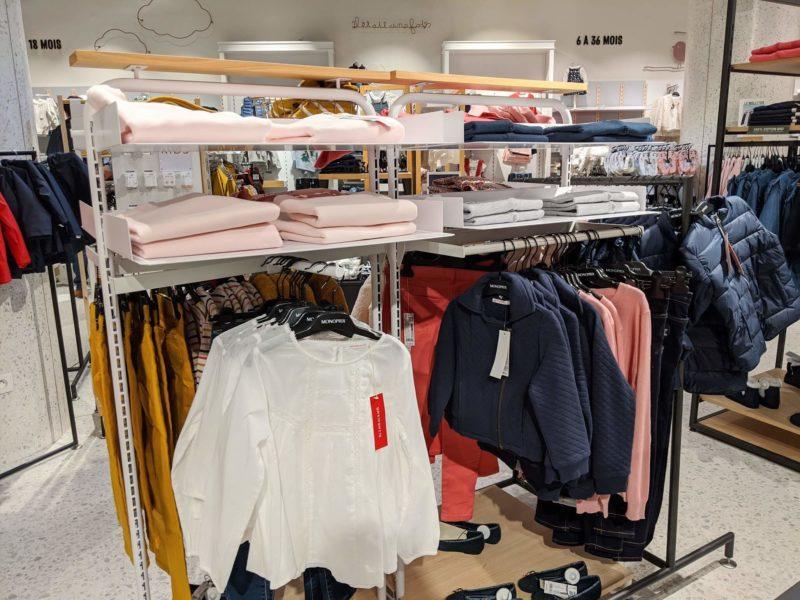 モノプリの衣料品はベビーから大人用まで品揃え豊富