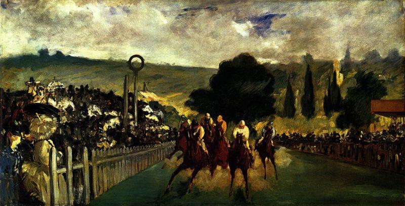 ロンシャンの競馬場 1866年 エドゥアール・マネ シカゴ美術館