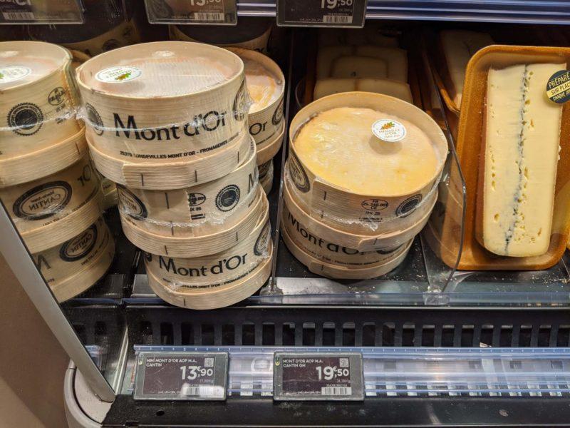 モンドールのチーズ