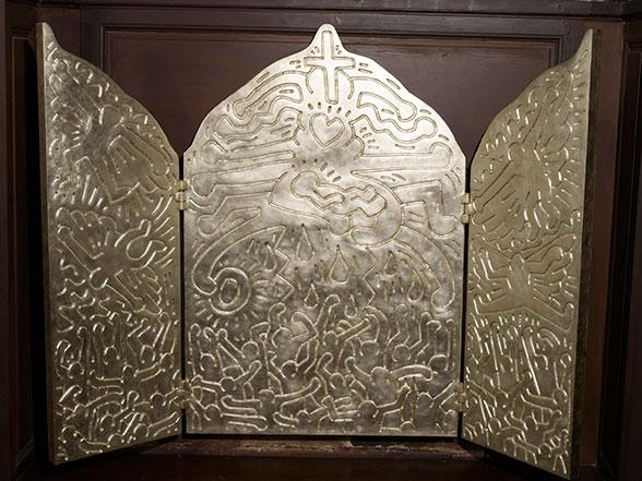 サントゥスタッシュ教会 キースへリングの祭壇
