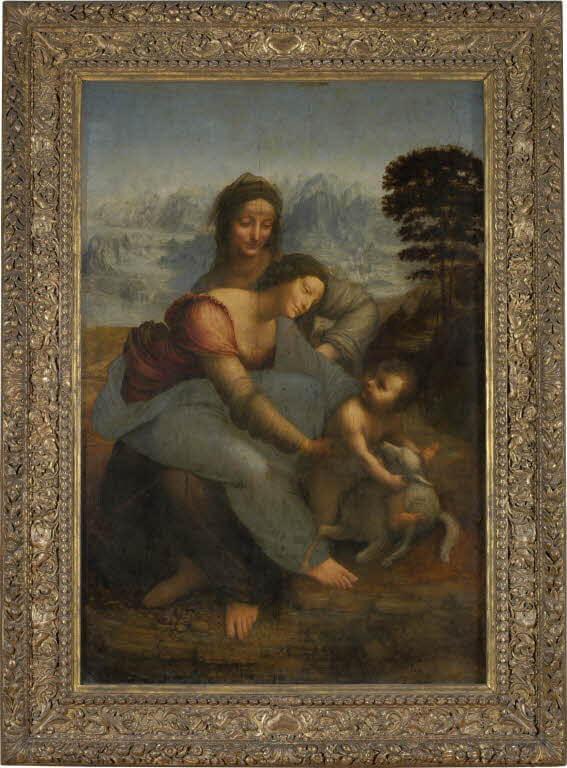 レオナルド・ダ・ヴィンチ《聖アンナと聖母子Sant'Anna, la Vergine e il Bambino con l'agnellino》ルーブル美術館