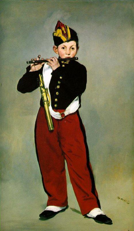 エドゥアール・マネ《笛を吹く少年》オルセー美術館