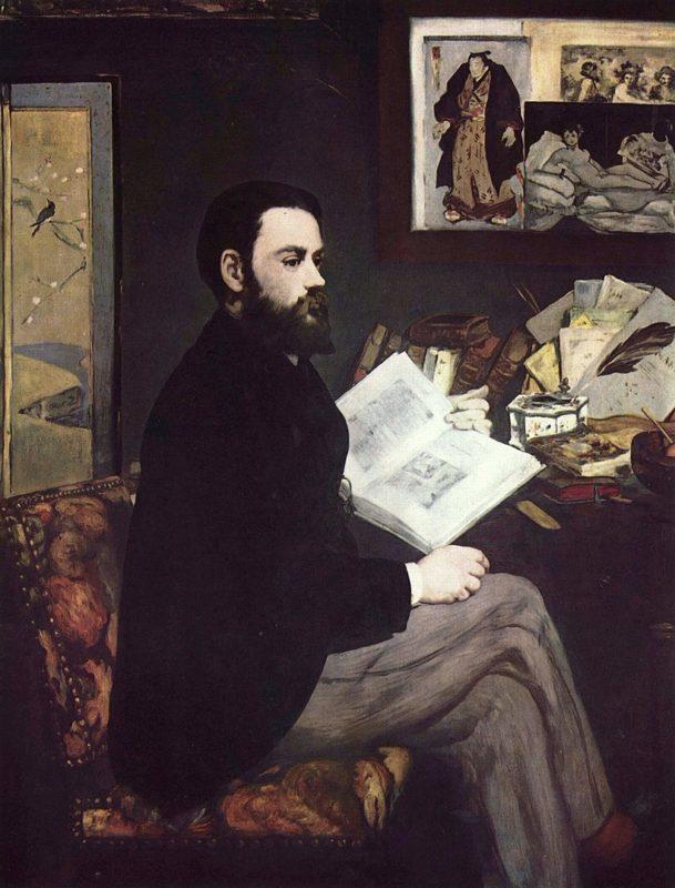 エドゥアール・マネ《エミール・ゾラの肖像》オルセー美術館