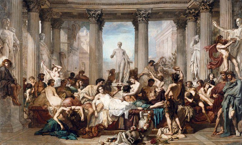 マネの師トマ・クチュール 「退廃期のローマ人」オルセー美術館