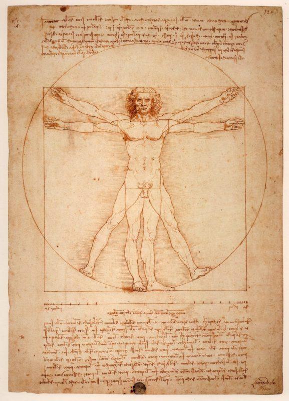 レオナルド・ダ・ヴィンチ《ウィトルウィウス人体図》アカデミア美術館