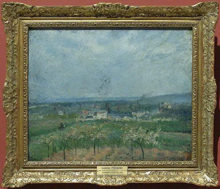 カミーユ・ピサロ《ポントワーズの通路 Paysage à Pontoise》