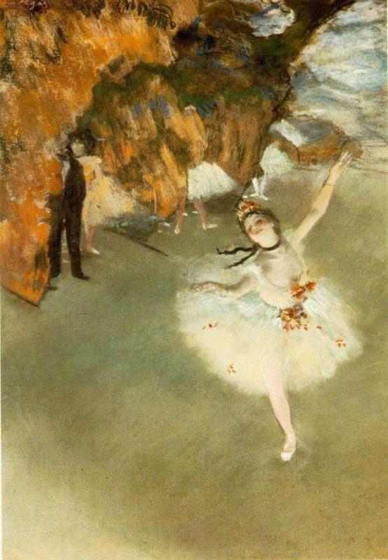 エドガー・ドガ《踊りの花形(エトワール、又は舞台の踊り子)L'étoile de la danse》オルセー美術館