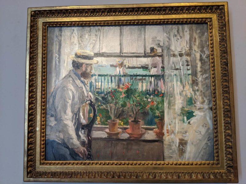 モリゾ《ワイト島のウジェーヌ・マネ Eugene Manet》マルモッタン・モネ美術館