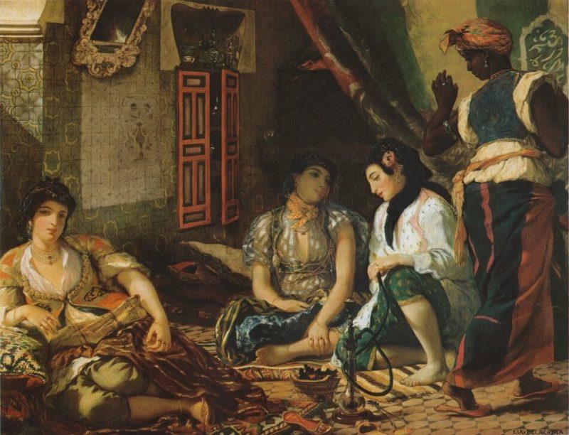 ドラクロワ《アルジェの女たち Femmes d'Alger dans leur appartement》ルーブル美術館