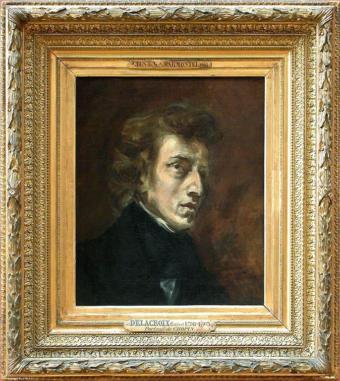 ドラクロワ《フレデリック・ショパンの肖像 Frédéric Chopin》ルーブル美術館
