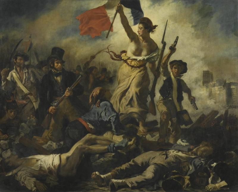 ドラクロワ《民衆を導く自由の女神 La Liberté guidant le peuple》ルーブル美術館