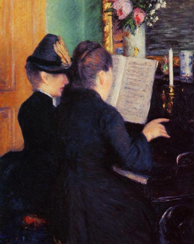 カイユボット《ピアノレッスン La leçon de piano》マルモッタンモネ美術館