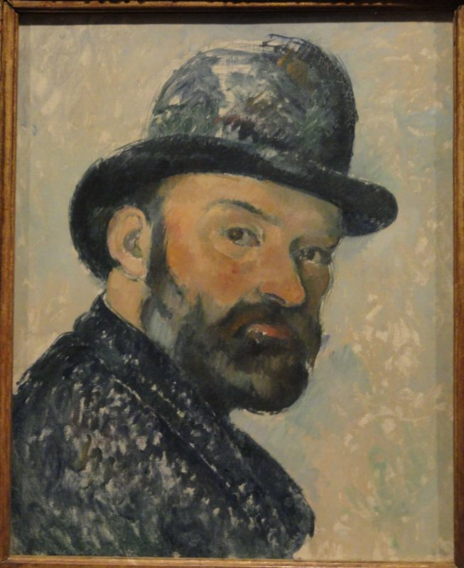セザンヌ《山高帽をかぶった自画像 Portrait de l'artiste au chapeau melon》ニイ・カールスベルグ・グリプトテク美術館