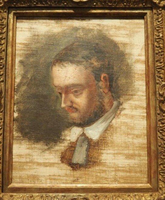 セザンヌ《エミール・ゾラの肖像 Portrait d'Émile Zola》グラネ美術館