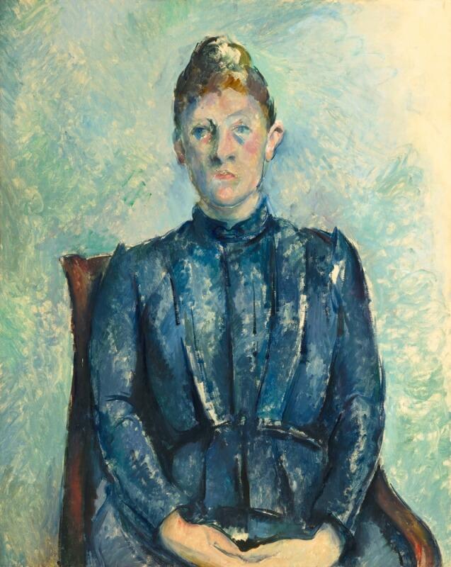 セザンヌ《セザンヌ夫人の肖像 Portrait de Madame Cézanne》オランジュリー美術館