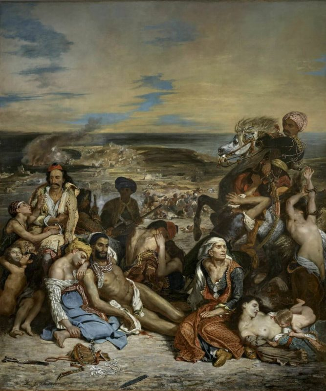 ドラクロワ《キオス島の虐殺 Scène des massacres de Scio》ルーブル美術館