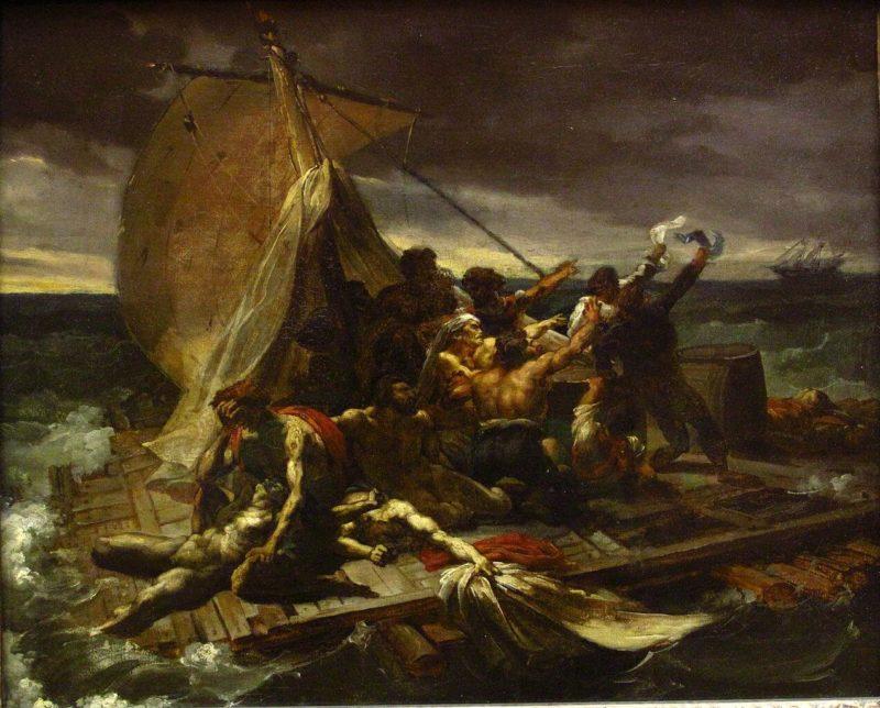 テオドール・ジュリコーの《メデューズ号の筏 Le Radeau de la Méduse》ルーブル美術館