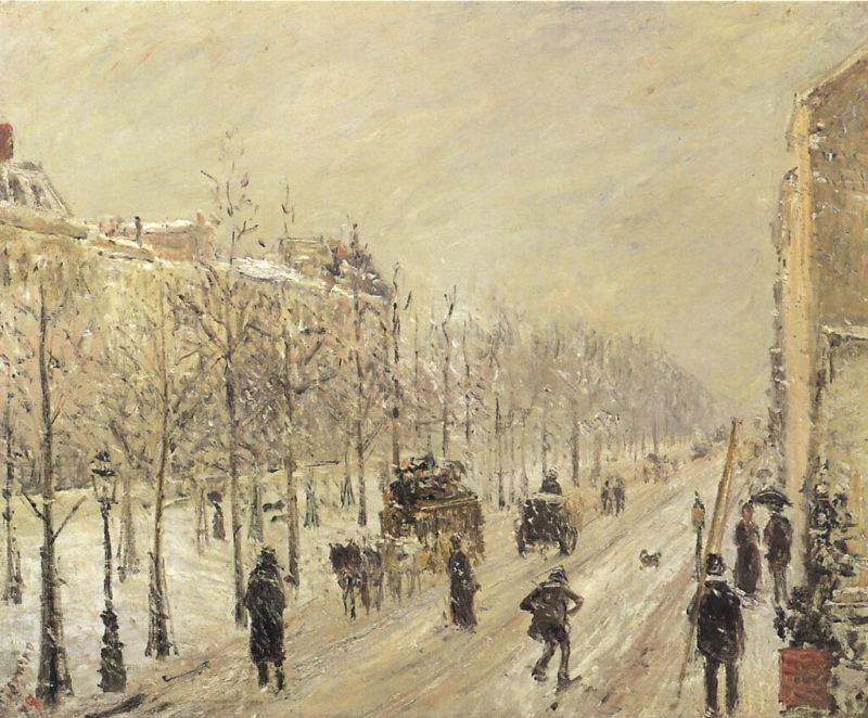 カミーユ・ピサロ《雪の大通り Les Boulevards Exterieurs》マルモッタン・モネ美術館