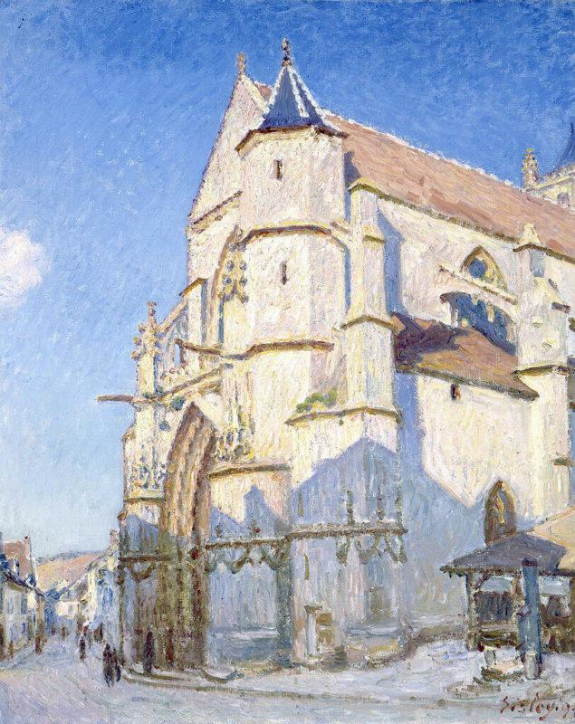 シスレー《モレの教会 L'église à Moret》プチ・パレ美術館